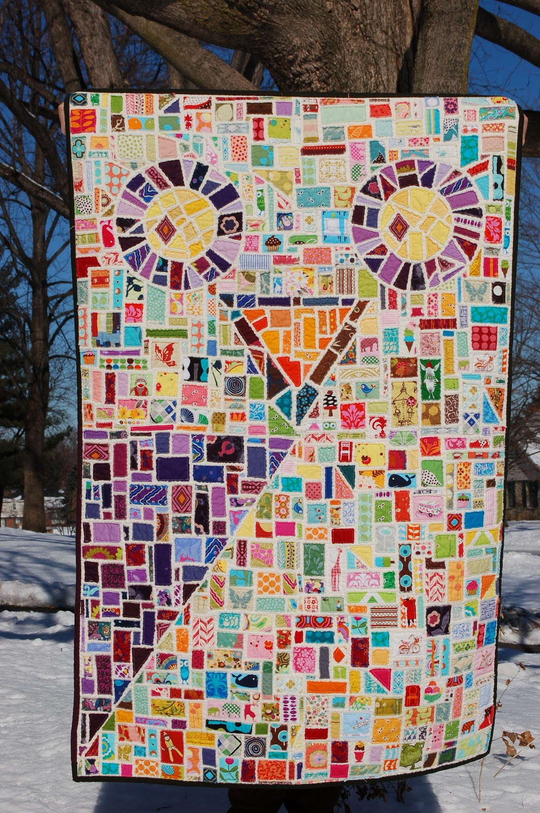 Quilt Story Ticker Tape Owl Quilt Amazing