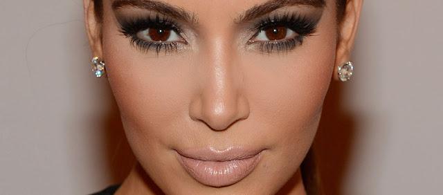 contouring on Kim Kardashian