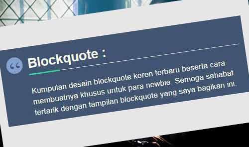 Blockquote keren terbaru