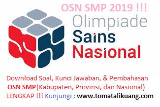 Soal & Pembahasan OSK OSP OSN IPA SMP Tahun 2019