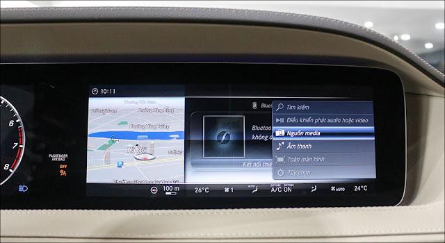 Thiết kế Màn hình trung tâm xe Mercedes S450 L 2019