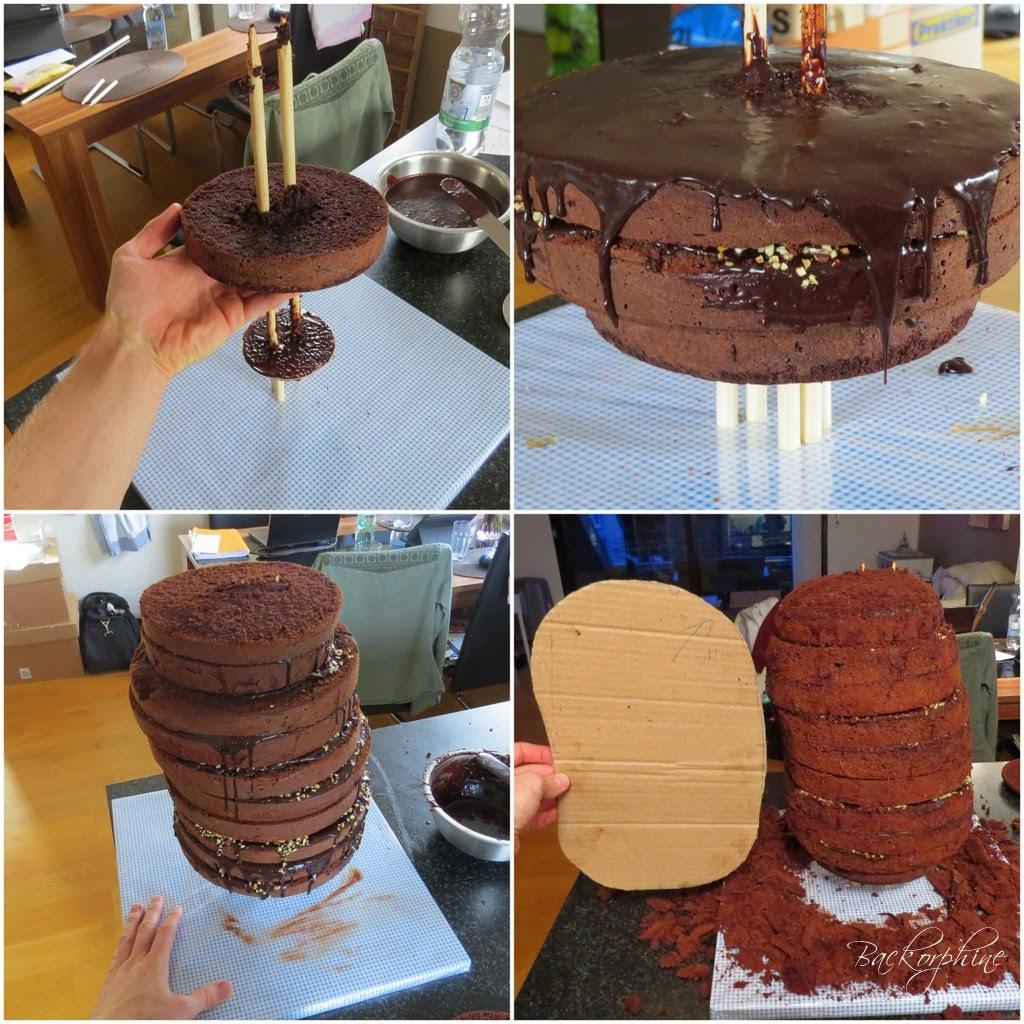 Minion, Kuchen stapeln und schnitzen