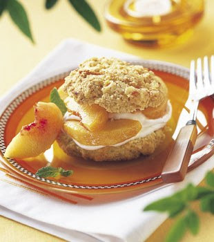 http://www.epicurious.com/recipes/food/views/Peaches-and-Cream-Shortcakes-with-Cornmeal-Orange-Biscuits-108317