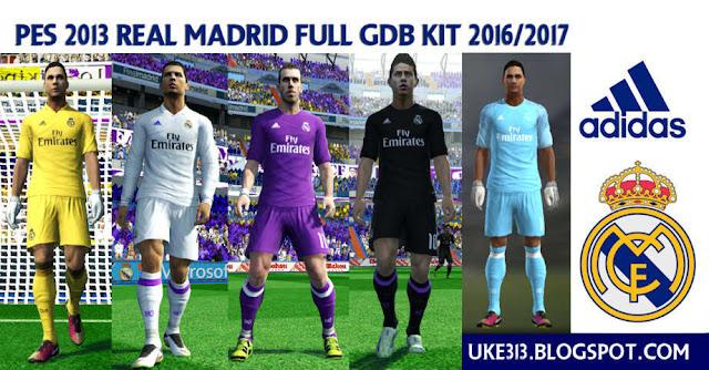 PES 2013 Real Madrid New Kit 2016/17