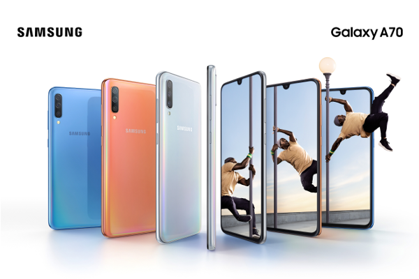 "SAMSUNG Galaxy A70 with 6.7"" Infinity-U display, On-screen fingerprint sensor, Samsung Pass and 4500mAh battery announced"