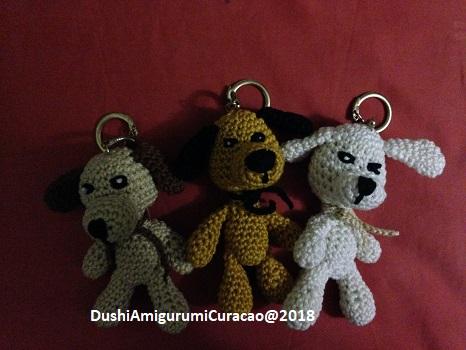 Dushi Amigurumi Curacao Sleutelhanger Mini Hondjes Haken