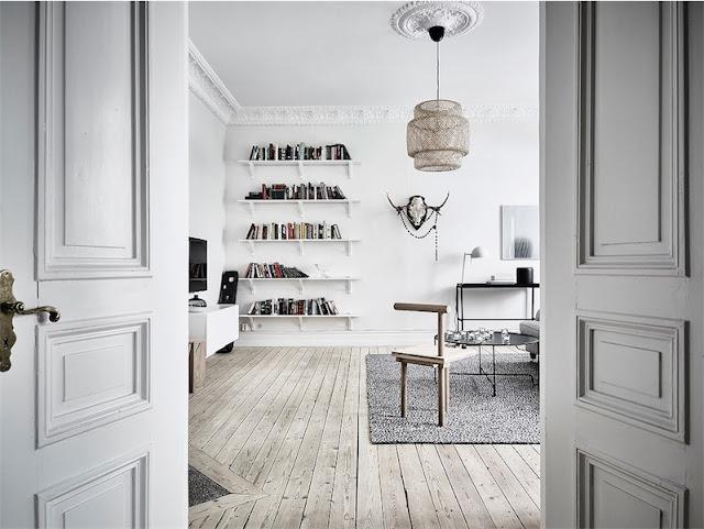 interior escandinavo decorado en gama de grises chicanddeco