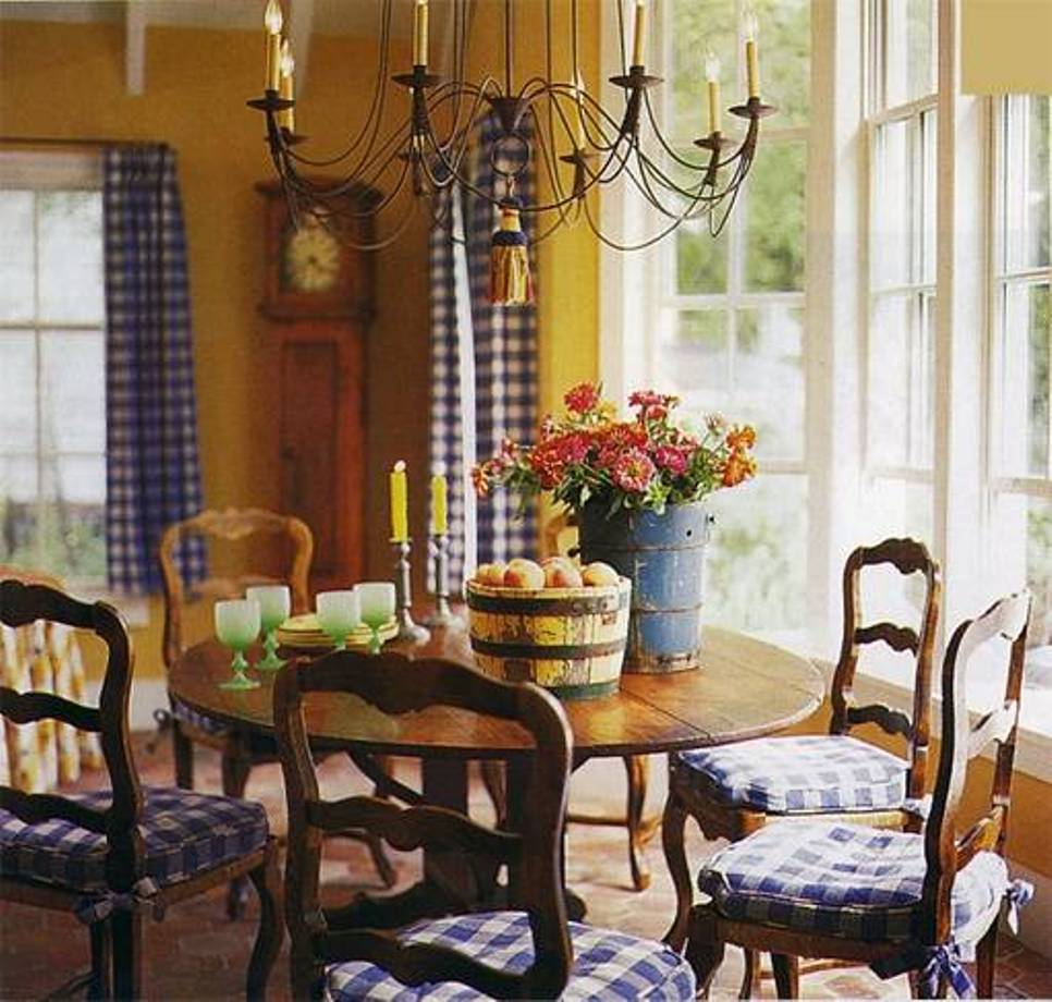 Country dining room decorating ideas best interior for Decorating ideas large dining room wall