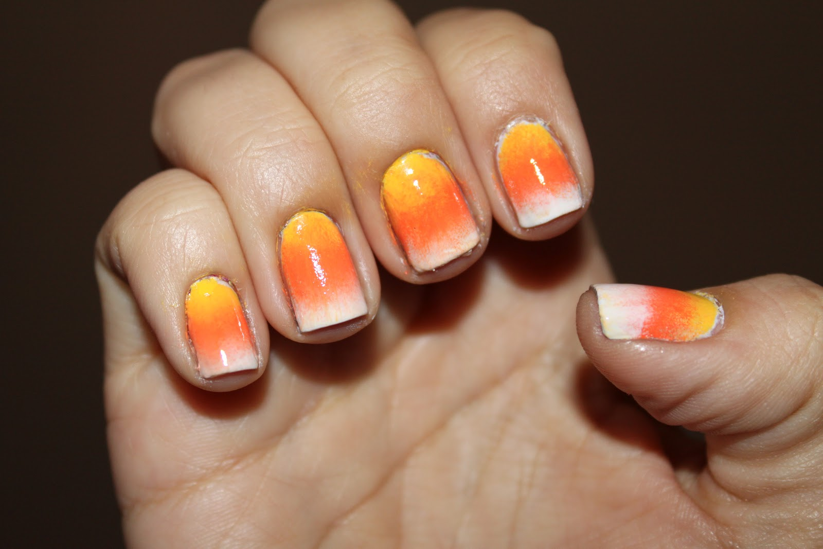 Simply Thrifty Nails: Gradient Candy Corn Nails Tutorial