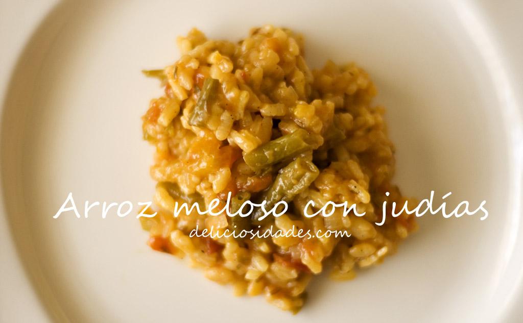 deliciosidades Receta de arroz meloso con judas
