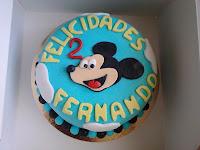Tarta de fondant Mickey Mouse