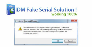internet download manager has been registered with a fake serial number 2018