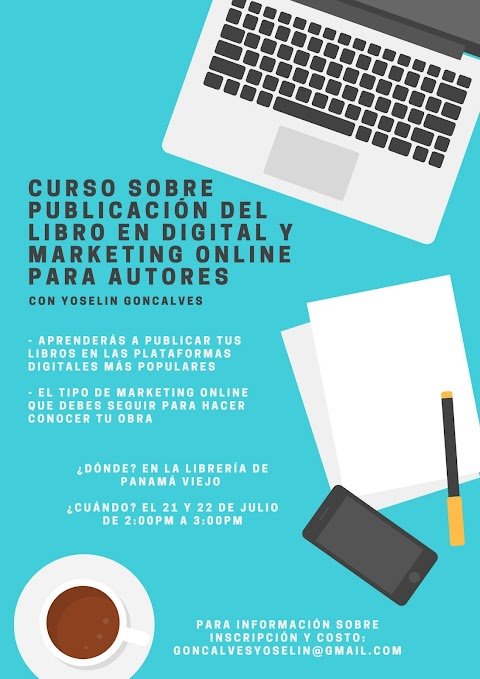 Curso sobre la publicación del libro en digital y marketing online para autores