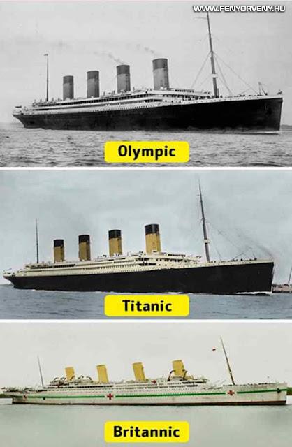 Olympic, Titanic és Britannic