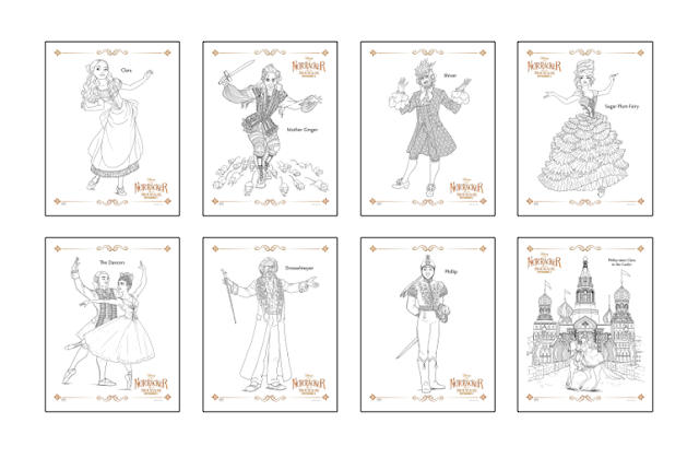 Disney's The Nutcracker and the Four Realms colouring pages