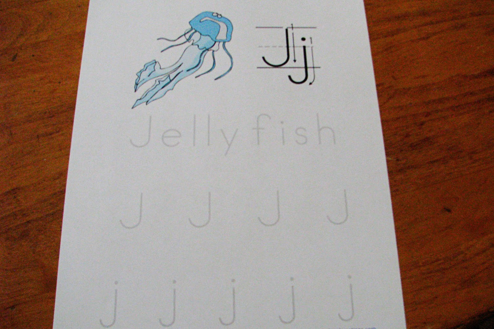 Mommy S Little Helper Letter J Jellyfish Preschool Theme