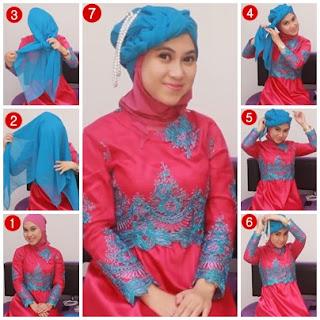 tutorial hijab untuk kebaya modern