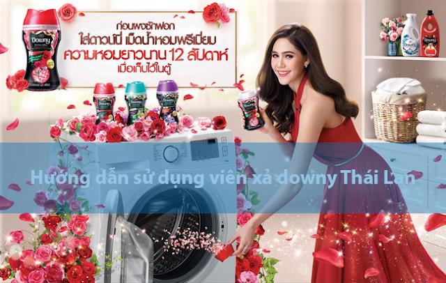 Hướng dẫn sử dụng viên xả downy Thái Lan