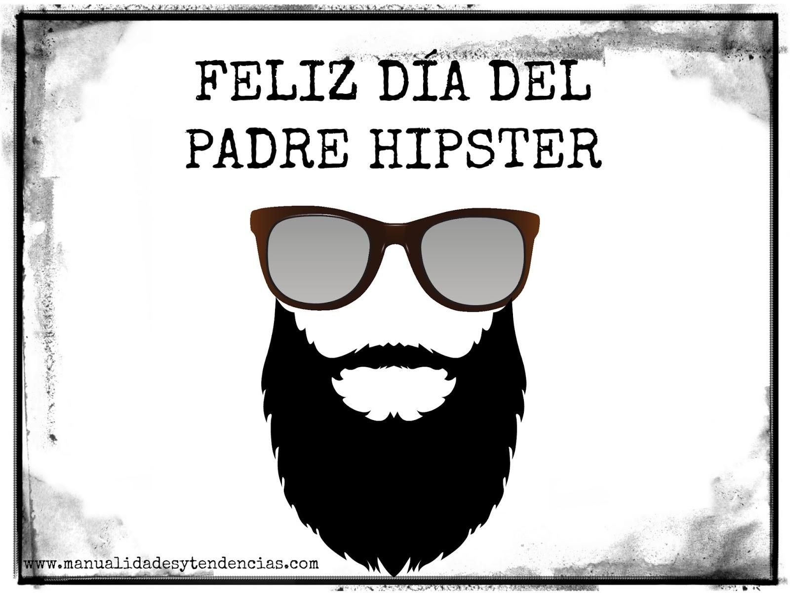 Manualidades Y Tendencias Tarjeta Para Padres Hipsters