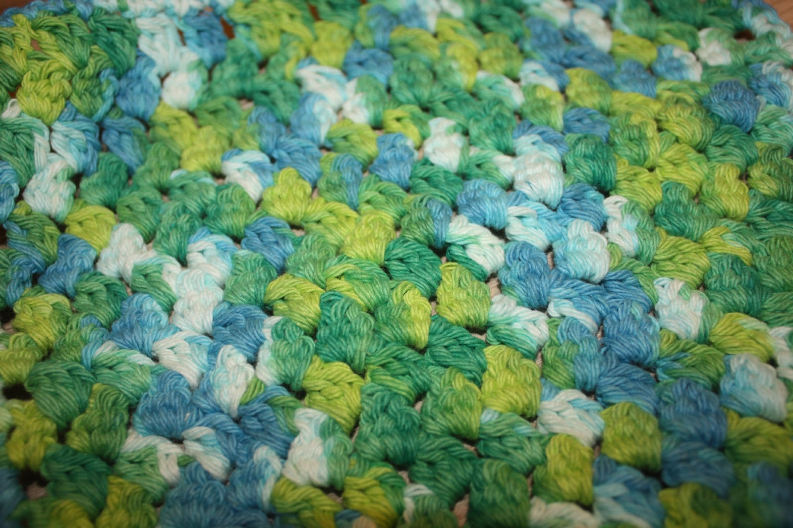 Crochet Dish Cloths / Wash Rags Pattern – Double Cluster Stitch