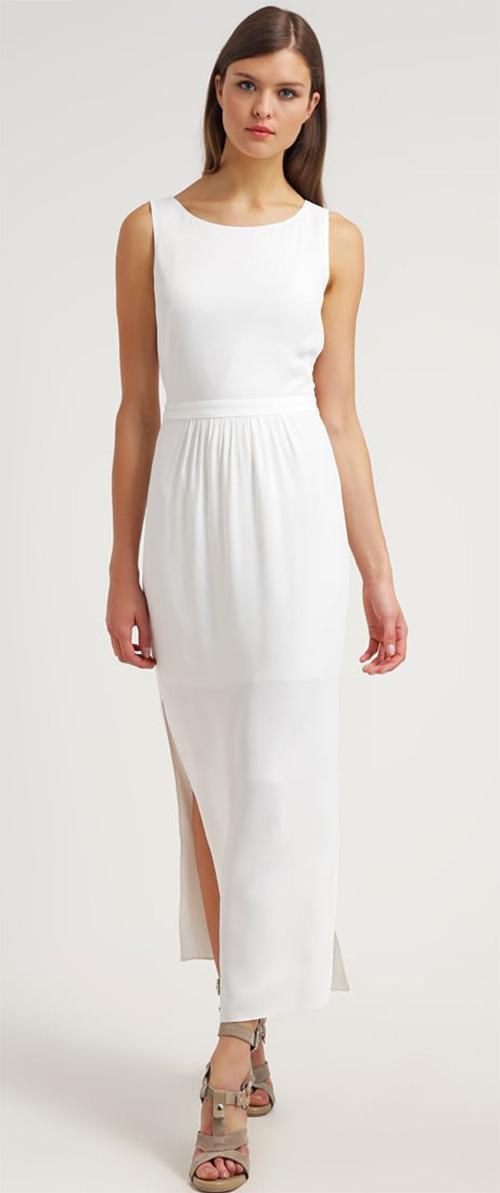 Robe longue blanche sans manches BOSS Orange