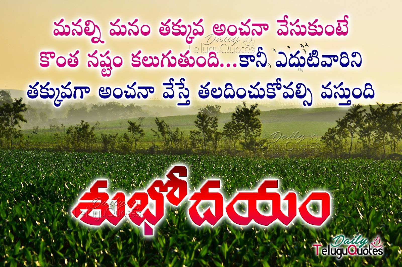Good Morning Images With Life Quotes In Telugu The Emoji