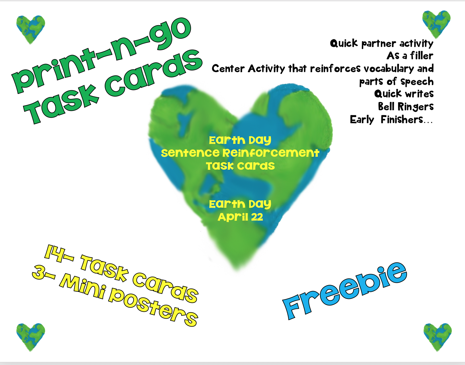 Instructional materials by elizabeth chapin pinotti earth day fun earth day freebie ccuart Gallery