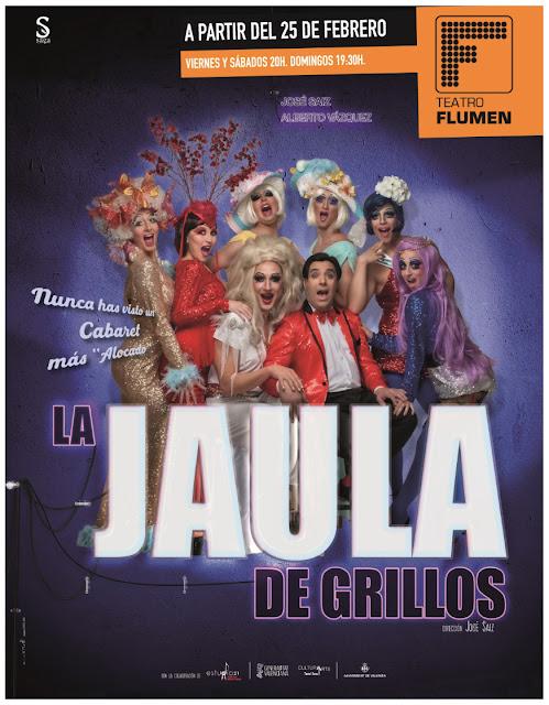 """Cartel promocional del musical """"La jaula de grillos"""""""