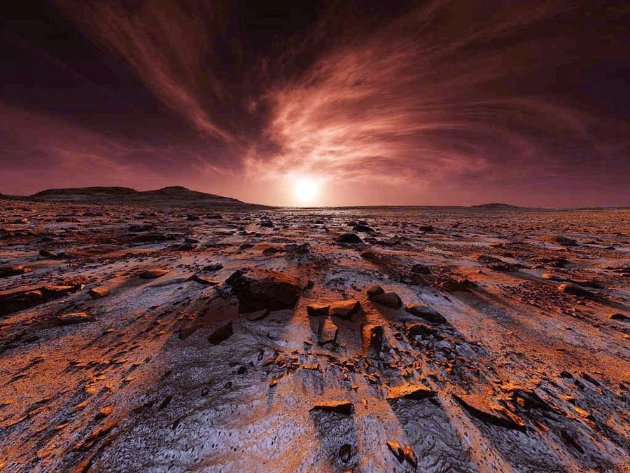 gambar permukaan planet mars