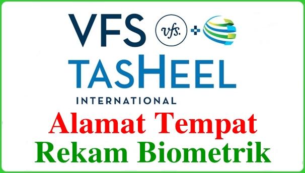 Alamat Tempat Rekam Biometrik VFS Tasheel di Indonesia