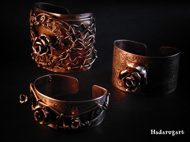 Bratari din cupru handmade