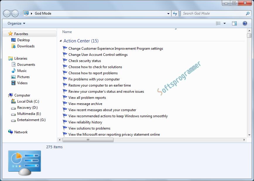 Windows Hidden GOD MODE Folder   Software Programming and ...