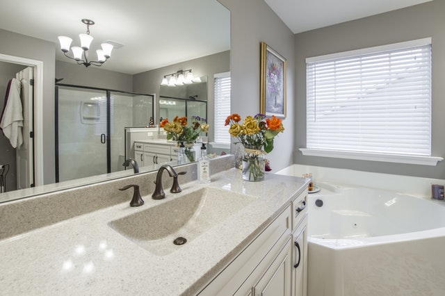 Trust Able & Ready Construction to upgrade your Prescott home with quality bathroom countertops and vanity surfaces.