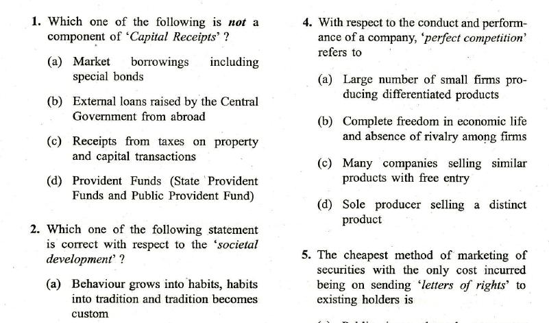 UPSC ESE Prelims, 2019 Question Paper