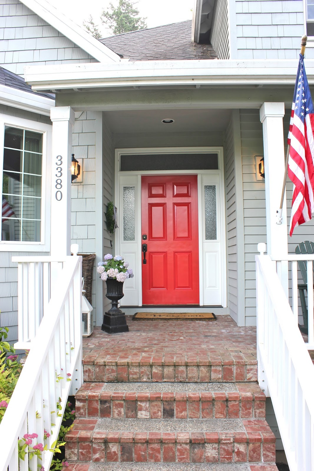 A happy front door a girl 39 s entitled to change her - Exterior doors that open to the outside ...