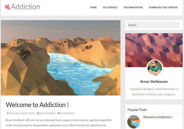 Addiction Blogger Templatec