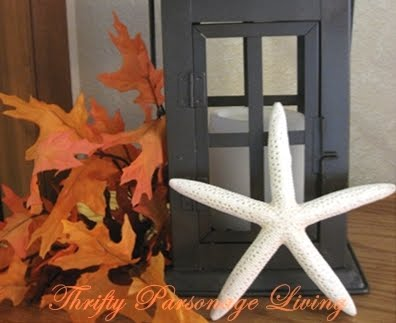 Fall decorating with leaves
