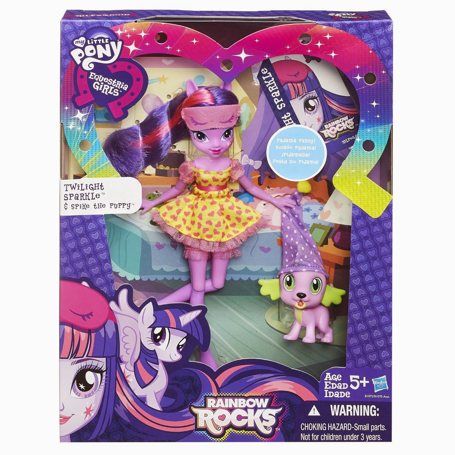 Twilight Sparkle and Spike the Dog Equestria Girls Set