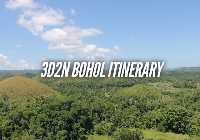 3 DAYS BOHOL ITINERARY TRAVEL GUIDE BLOG