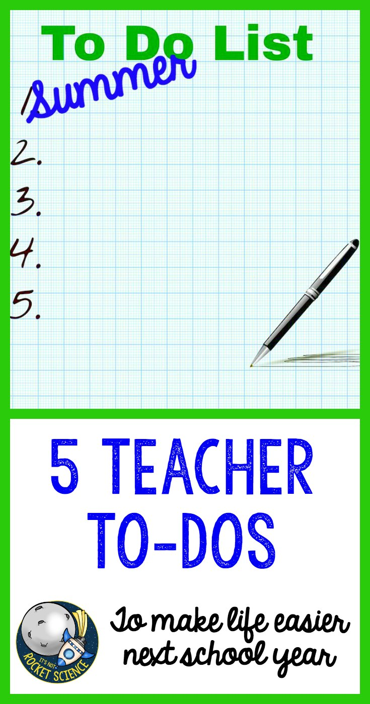 For teachers, the last thing you want to do in the summer after a crazy end of the year is to think about back to school.  But here are 5 simple teacher to-dos for the summer to make back to school so much easier!