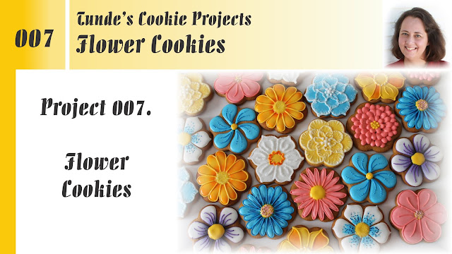 Flower cookies, online class by Tunde Dugantsi