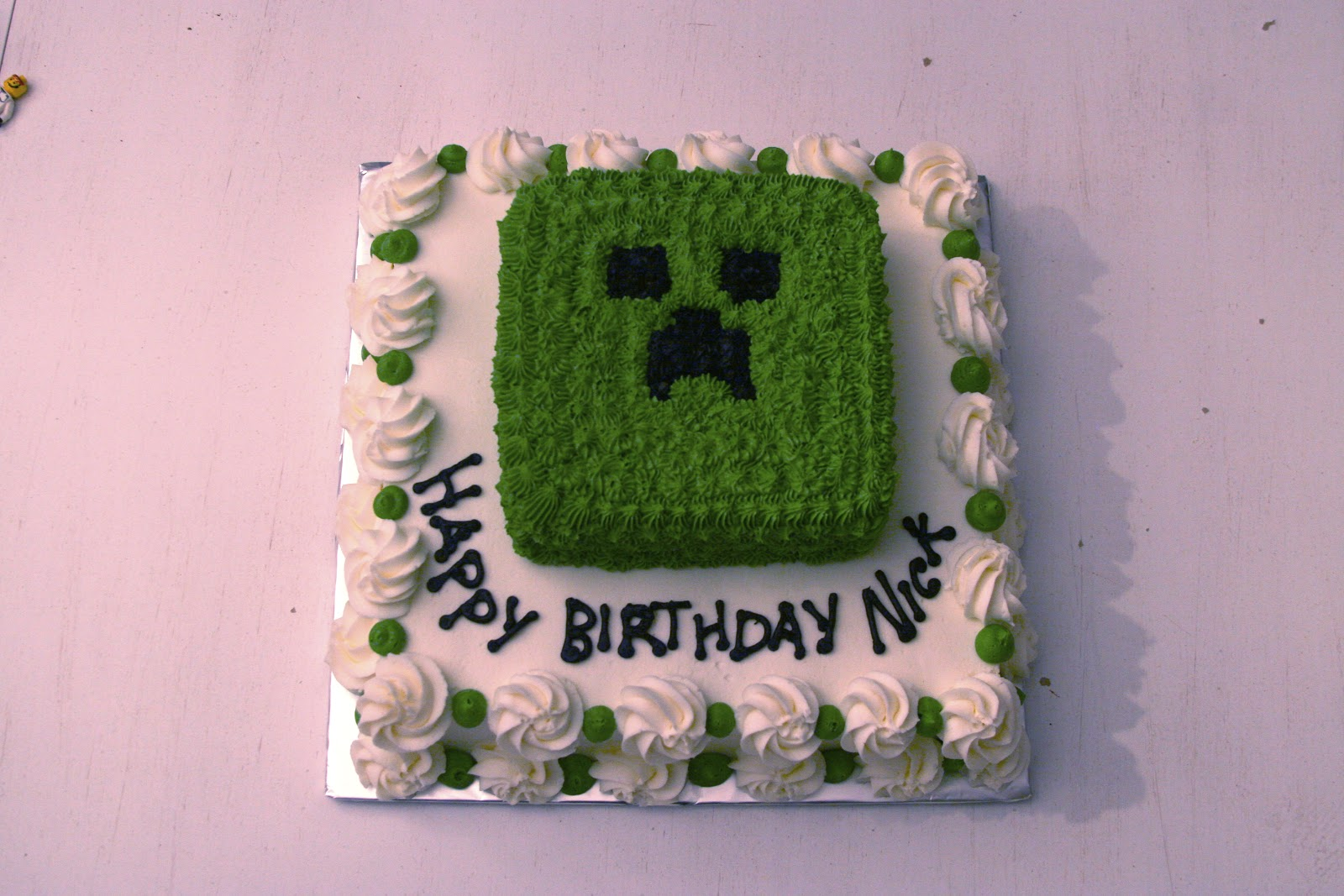 Minecraft Creeper Cake Recipe