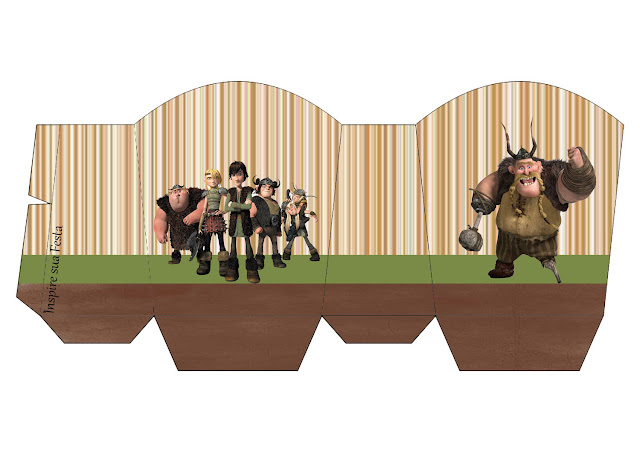 How to Train your Dragon Party, Free Printable Box.