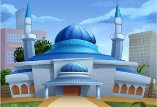 Gambar Kartun Masjid Cantik dan Lucu 201712