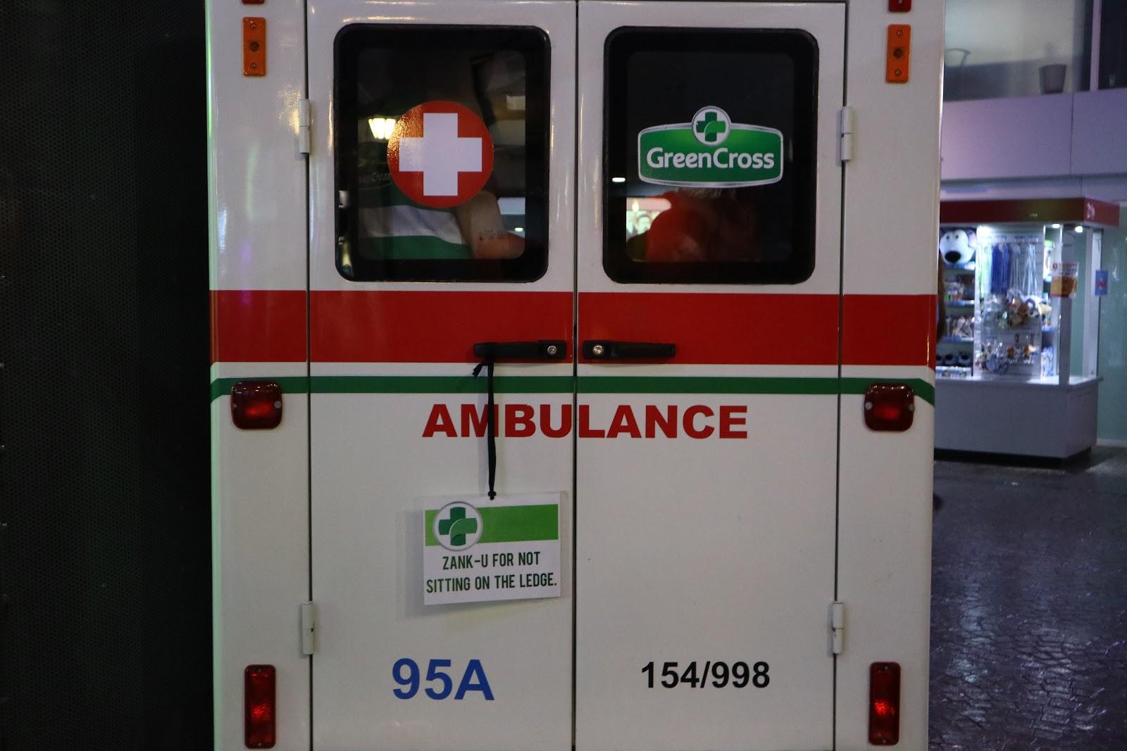 KidZania's very own ambulance c/o Green Cross
