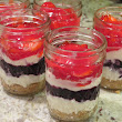 Recipe: Red, White and Blueberry Cheesecake Jars!