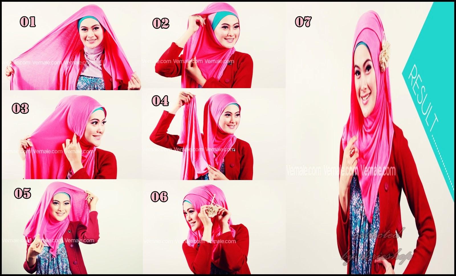 Hijab Tutorial Untuk Wanita Karier Ala Ibu Guru All Tutorial Sharing