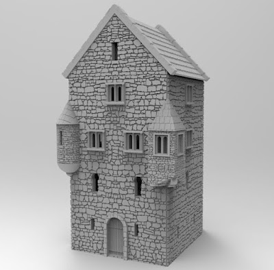 Different corner-turrets for the buildings picture 2