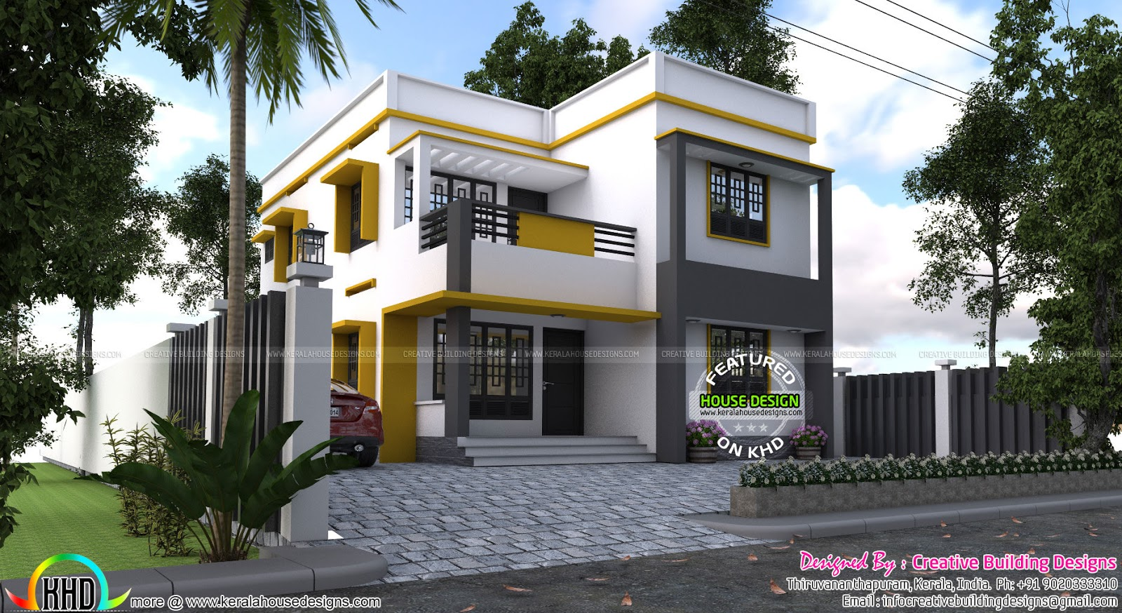 house plan by creative building designs kerala home design and floor plans. Black Bedroom Furniture Sets. Home Design Ideas
