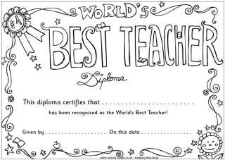 My dog ate my homework!: Making Diplomas!